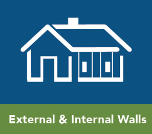 external and innternal wall insualtion