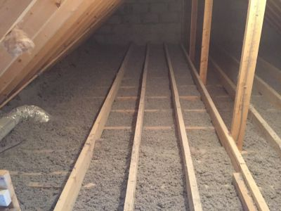 attic fibre blown insulation
