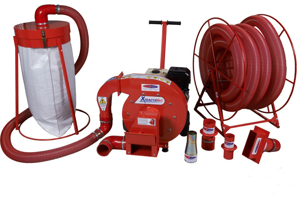 Cavity wall insulation extraction equipment